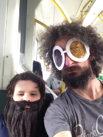 Eyal with his son Chil (2014). Selfie
