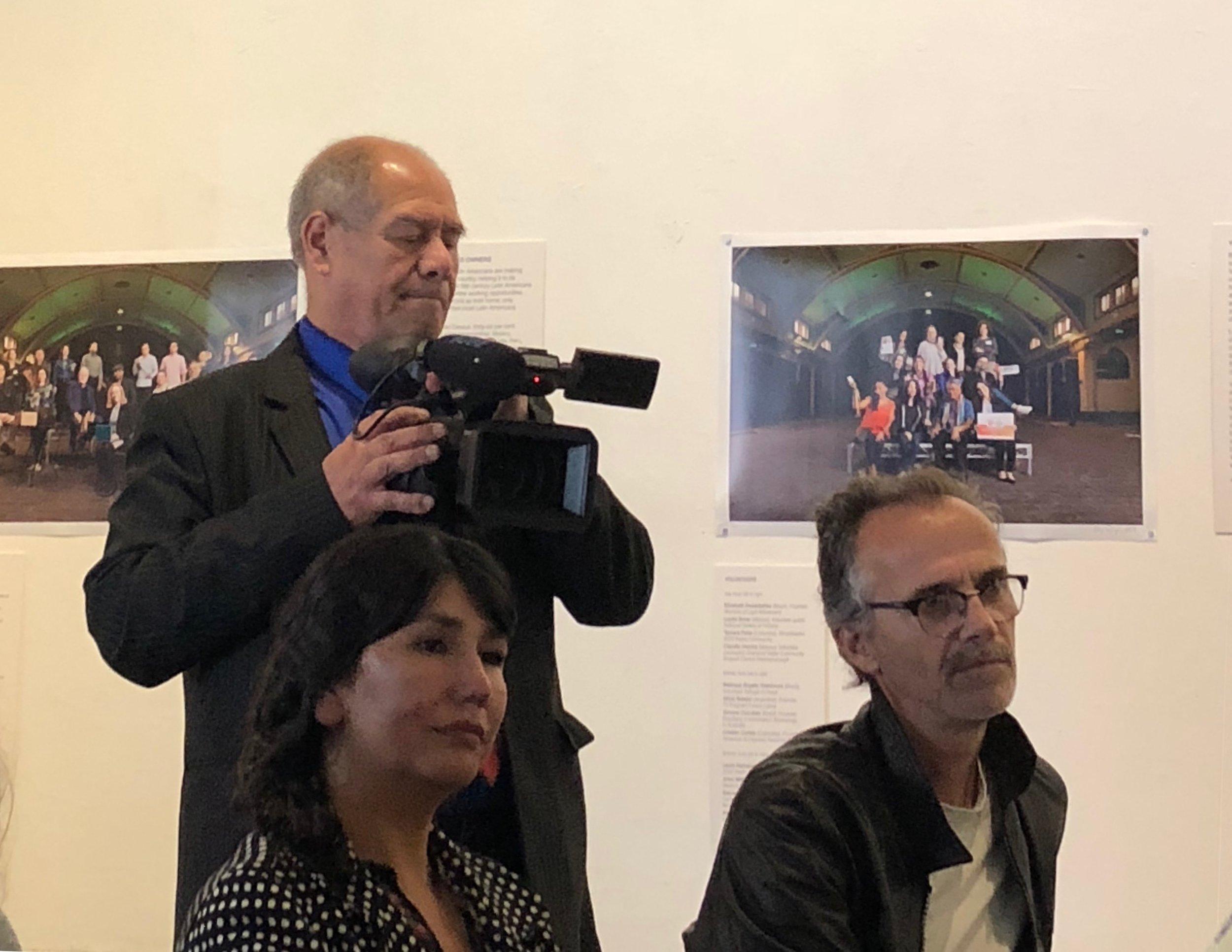 "Julio covering the ""Building Bridges"" exhibition event, November 2018"