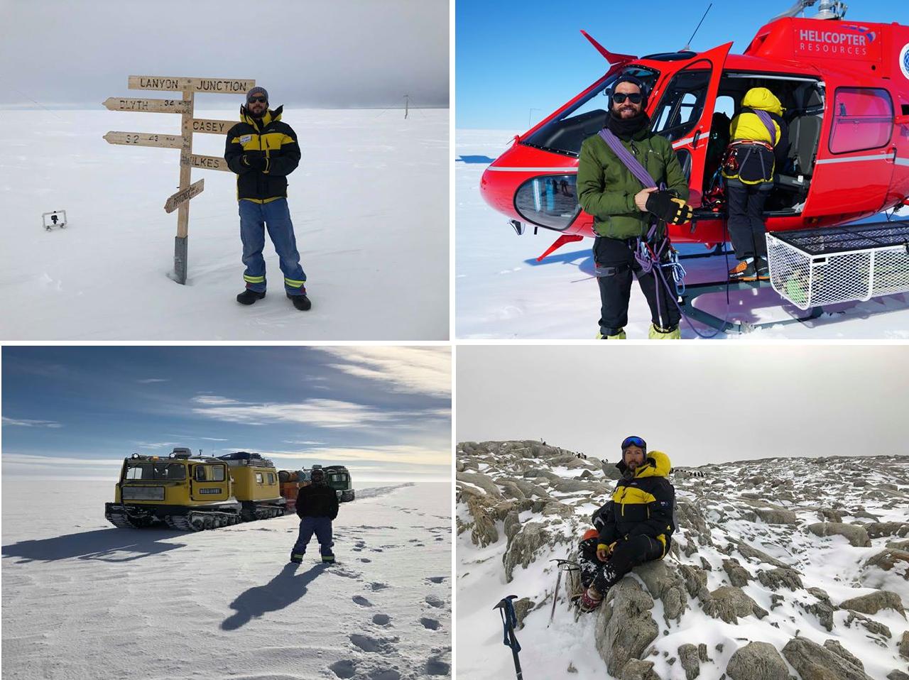 Juan Pablo in Antarctica