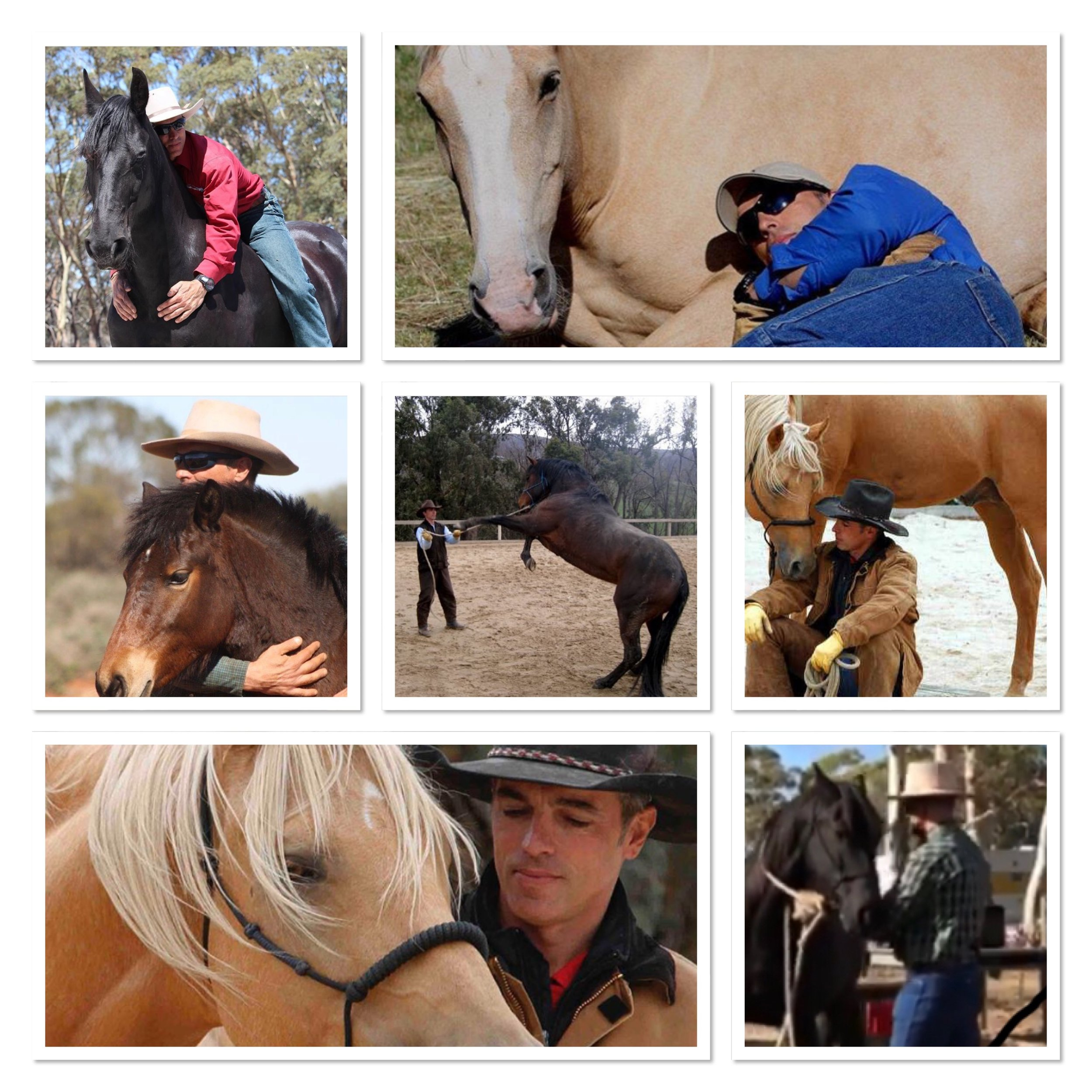 Just a few of the moments captured between Carlos and the different horses he works with. Source: Carlos's Instagram feed.