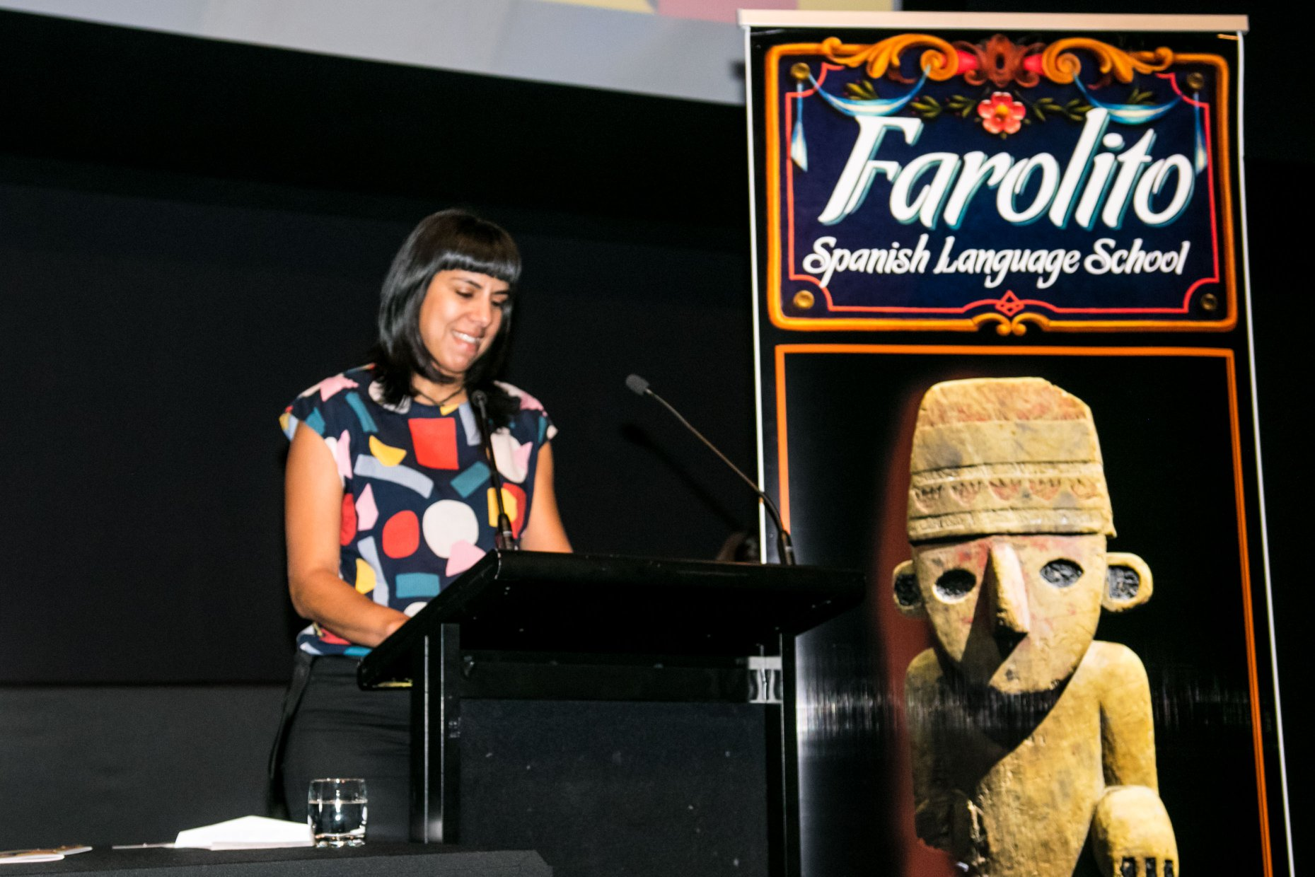 Eleonor, representing Farolito, supporting Melbourne Filmoteca