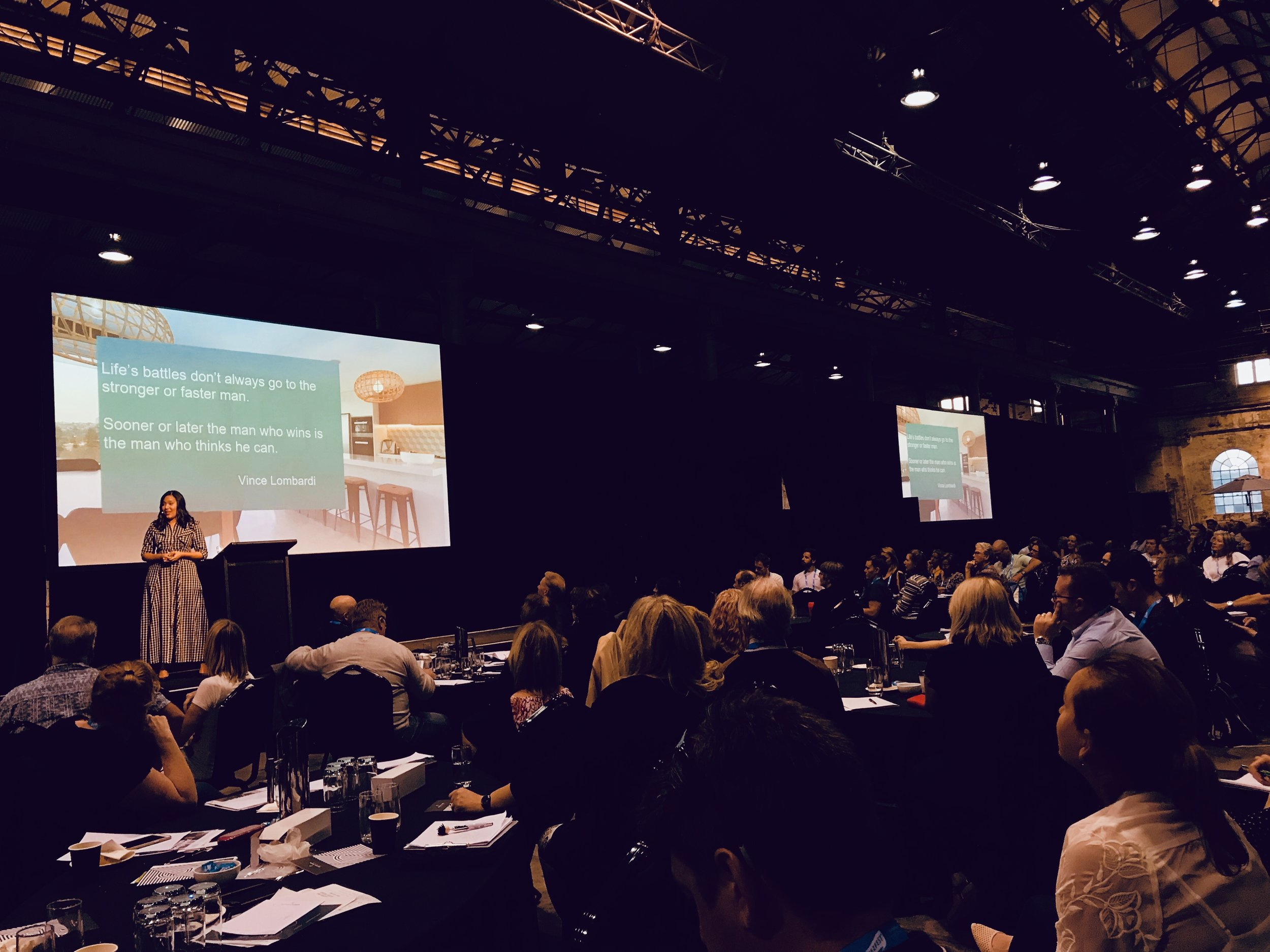 Sabrina presenting at the Short Term Rental Conference (over 500 attendees).