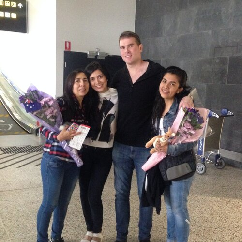 First time Yeimy's mother and sister visited Australia in 2015.