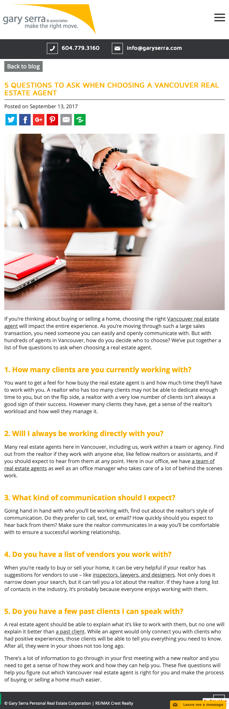 5 Questions to Ask When Choosing a Real Estate Agent