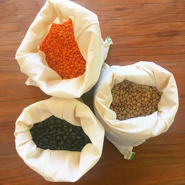 A quick stop at our local bulk store 👌🏻 Red split lentils, Brown lentils & Black turtle beans 🐢 . Get your own bulk bin bags:  https://www.felixandeden.com/onthego/bulk-bin-bags-3pk . . #zerowasteonthego #bulkfoods #felixandeden  #plasticfree #noplasticplease #zerowasteliving #lowimpactliving