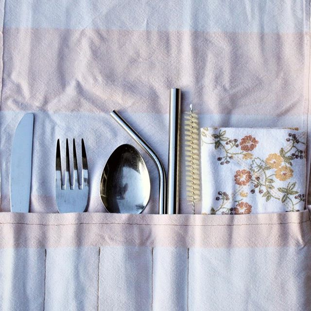 Our cutlery rolls are now available!😍🍴 Perfect to keep in your bag or car so you're always prepared. Head over to our website and check them out:  www.felixandeden.com/onthego/cutlery-roll . . . #felixandeden #noplasticplease #zerowasteonthego #zerowaste #reusables #cutlerywrap #minimalimpact #lowwaste #handmade