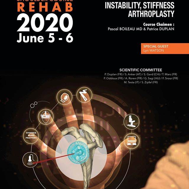 Great Melb.Sh.Group News: Dr Lyn Watson asked to be keynote speaker at next years 2020 Nice Shoulder Course Rehab. Join us; Summer in the South of France!#melbourneshouldergroup #niceshouldercourse2020