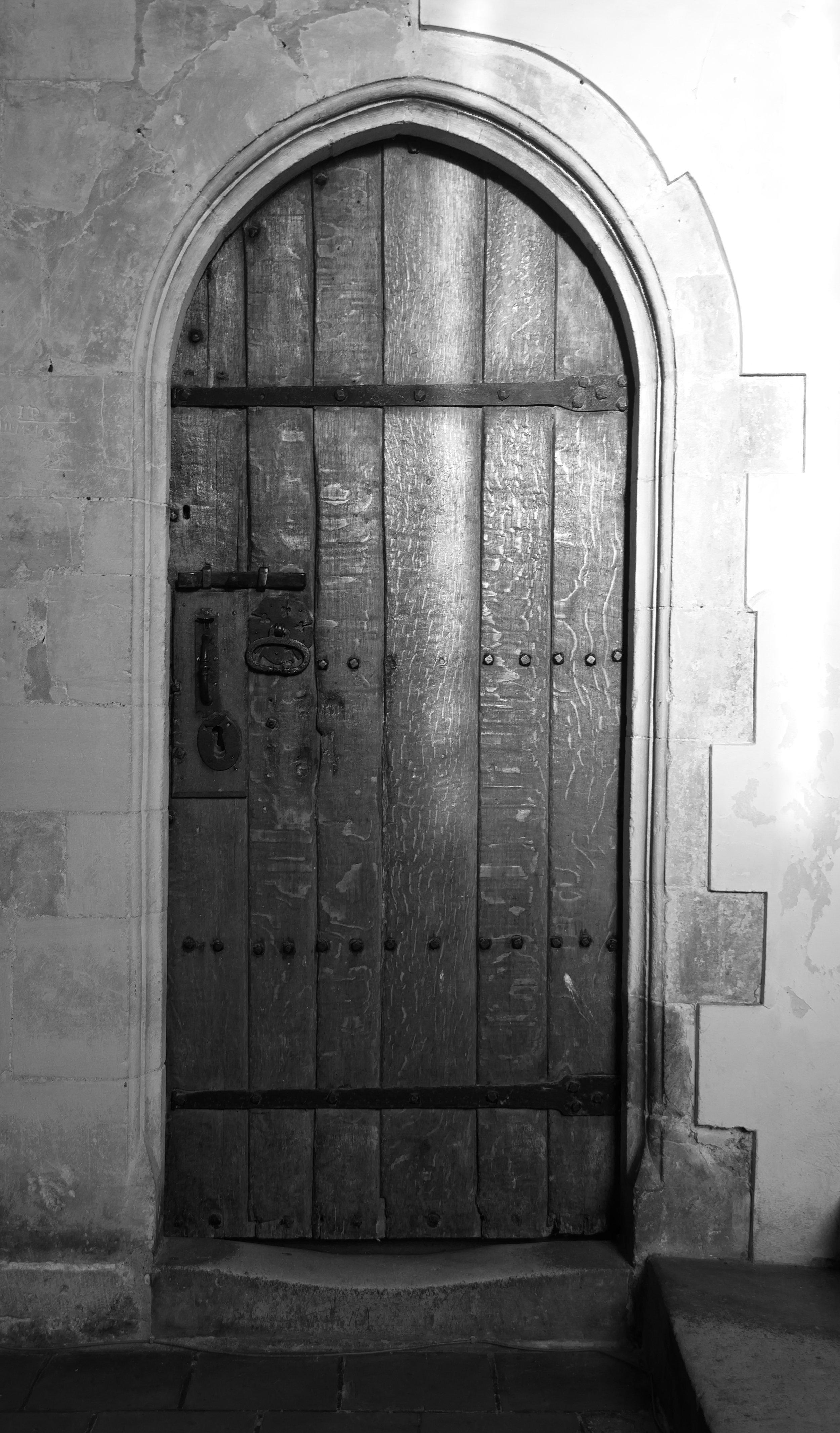 Interior door, choir