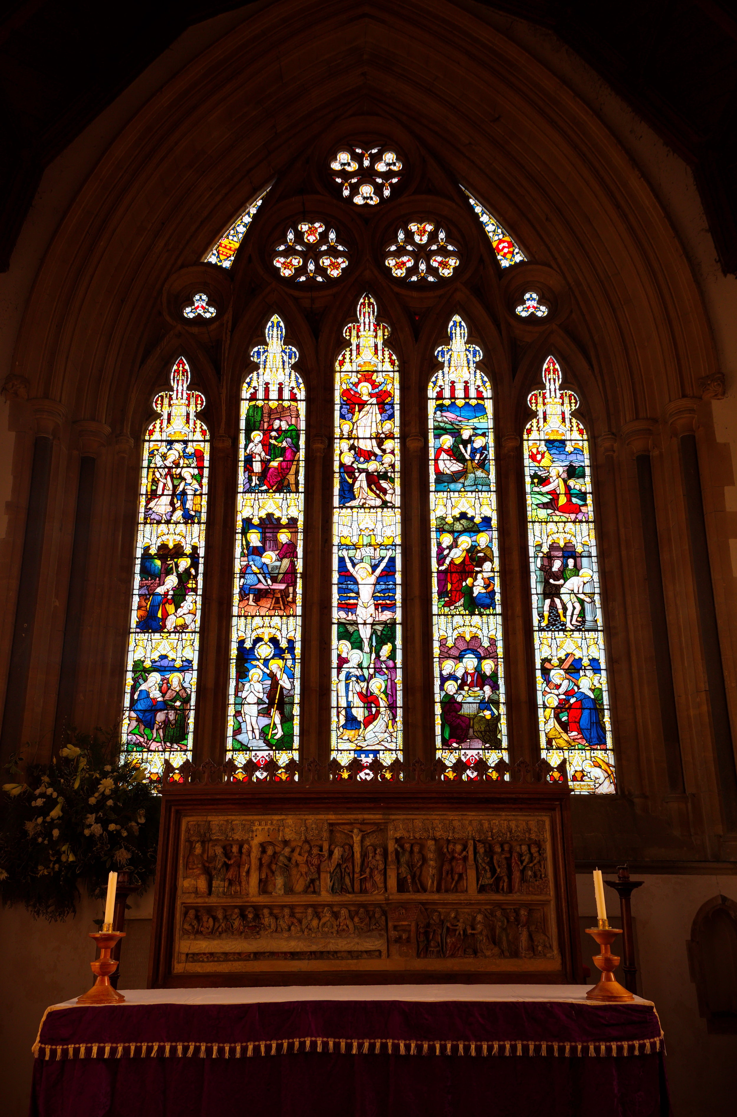 Stained glass, chancel