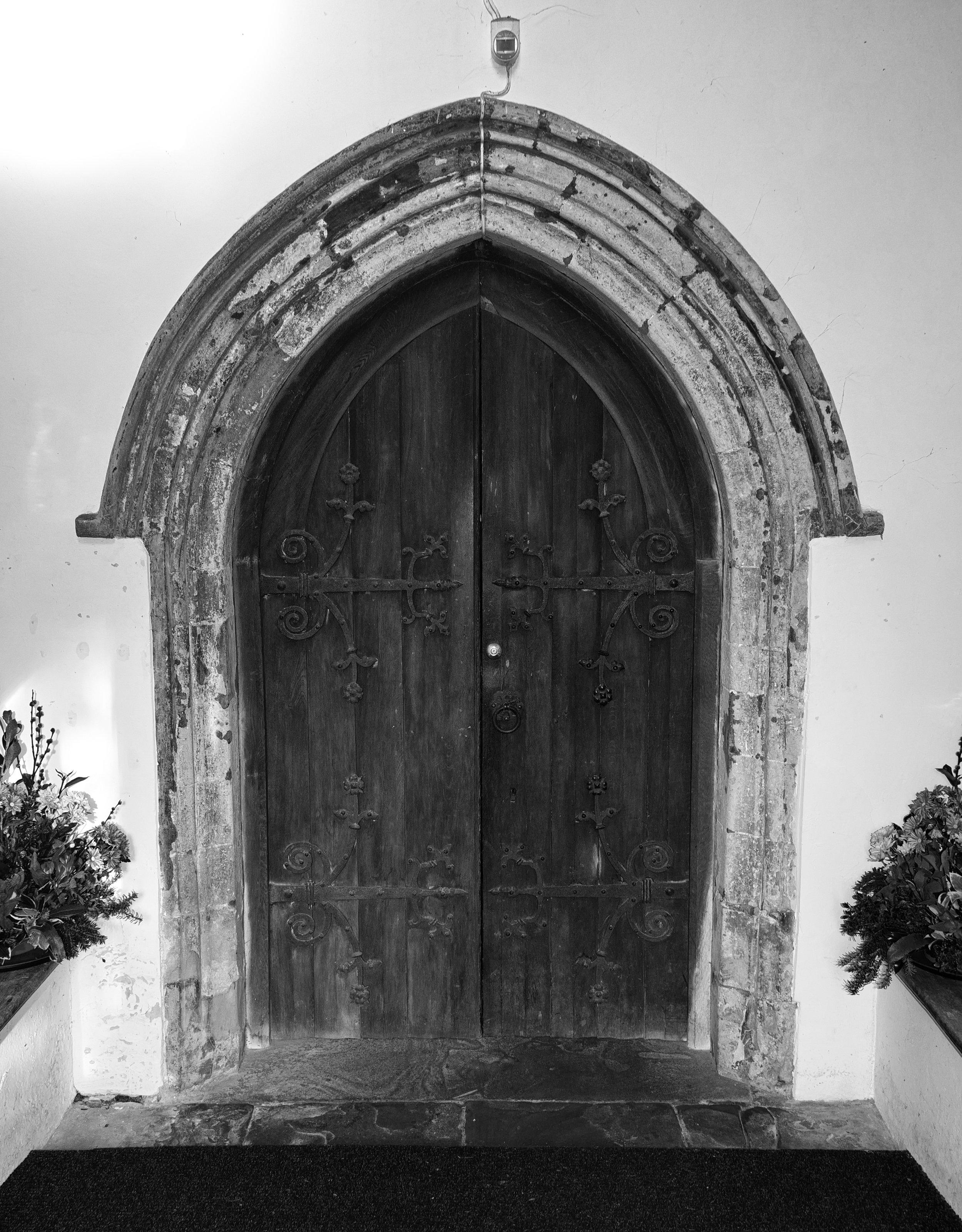 Porch door, south