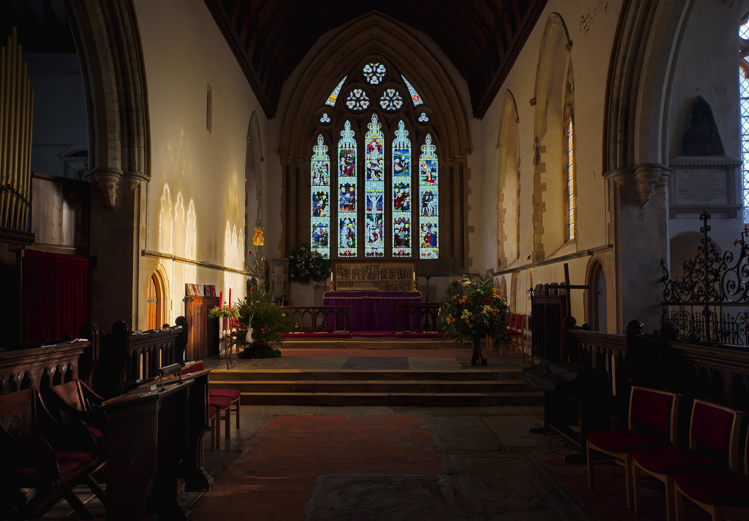 Interior, chancel