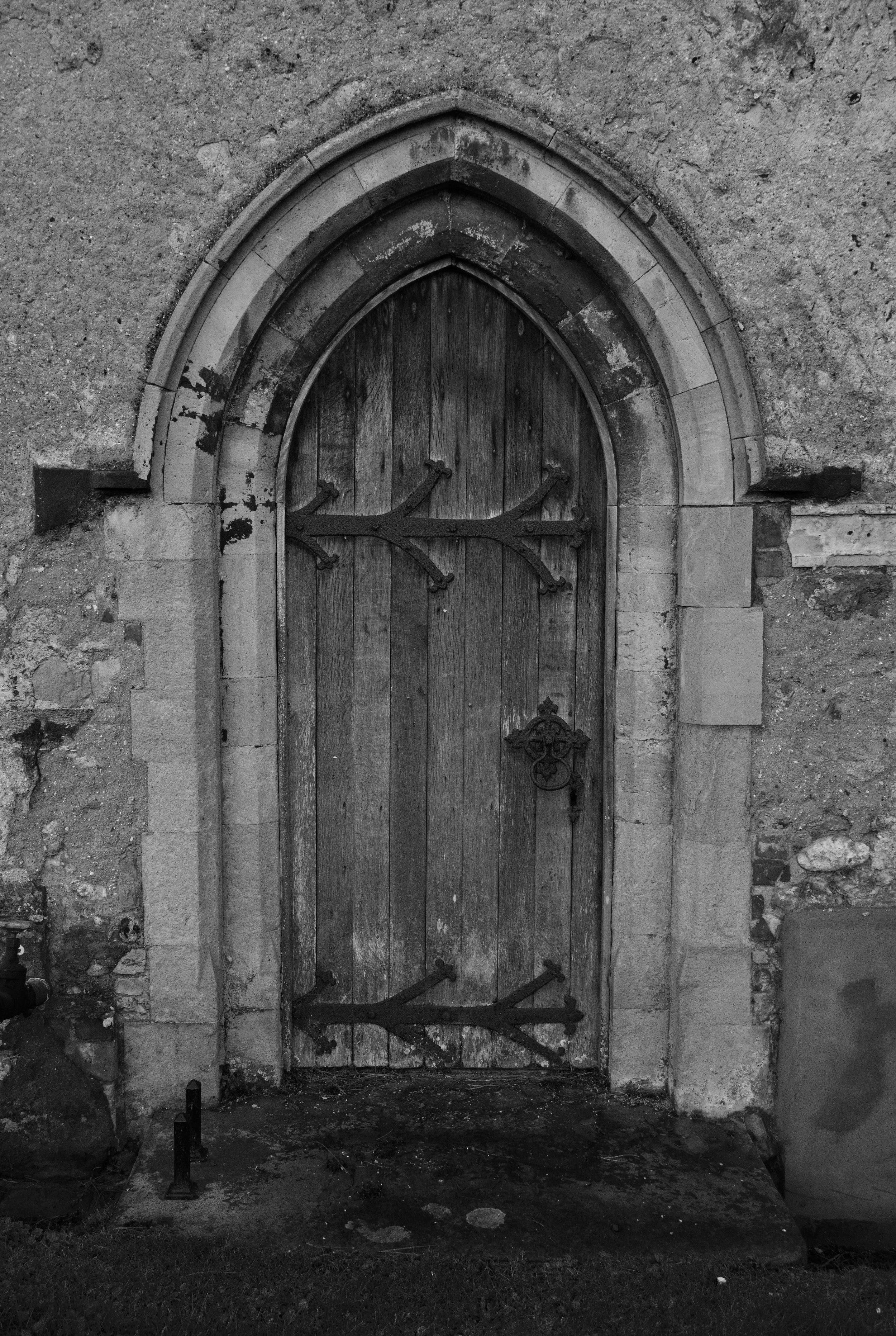West door, nave