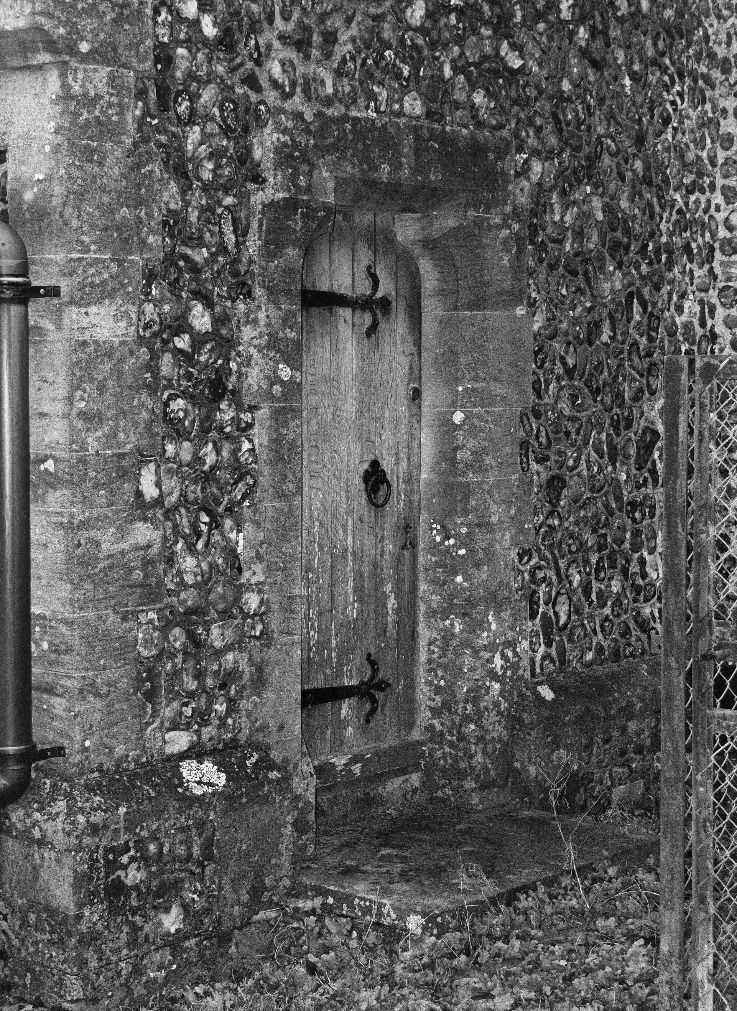 Vestry door, north