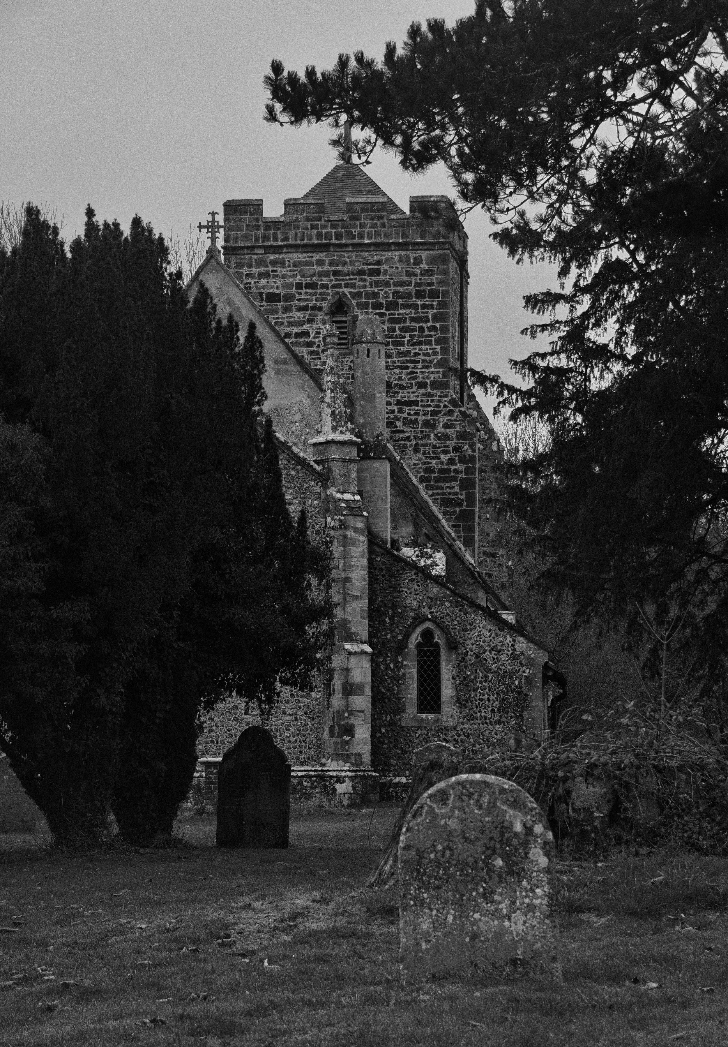 Churchyard, east