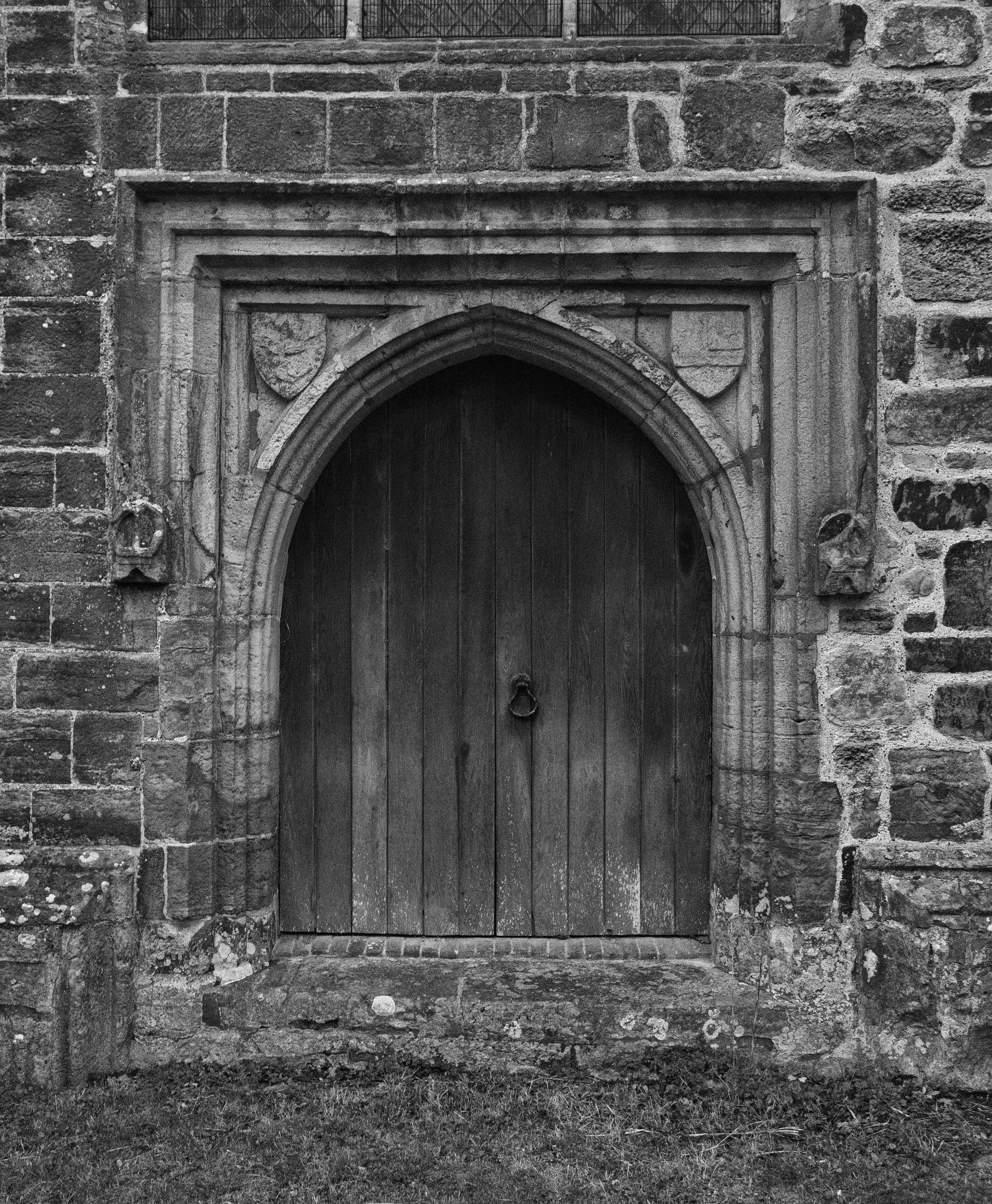 Tower door, west