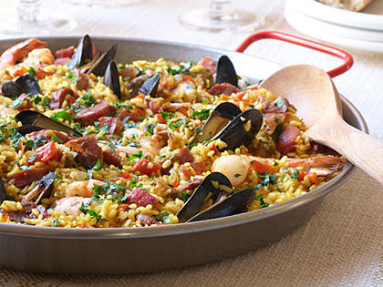 Traditional Spanish Paella - Fresh Seafood