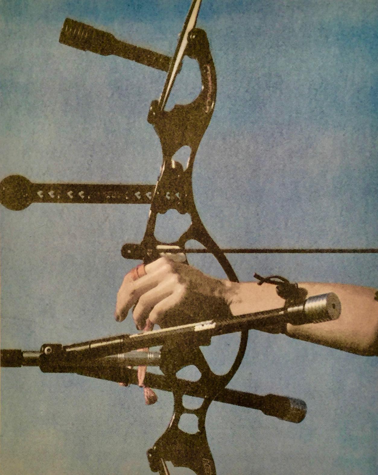 "Archer, 2017, Photoprint on paper, 18"" x 24""."