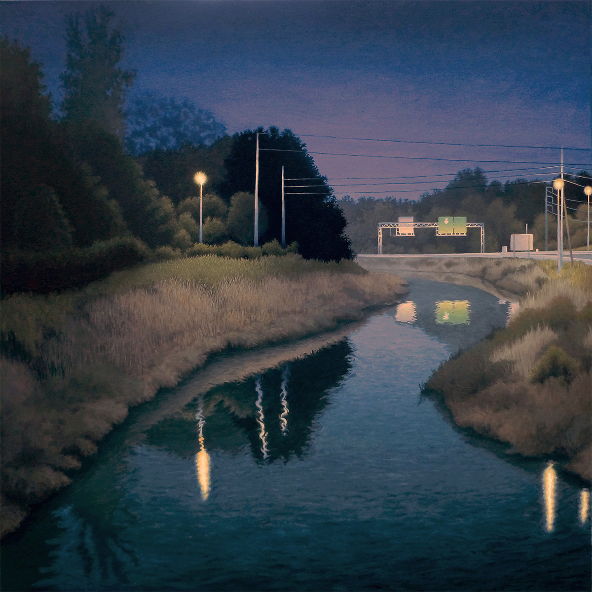 """Truman Parkway and Derrene, Roger Walton, 2014, Oil on canvas."