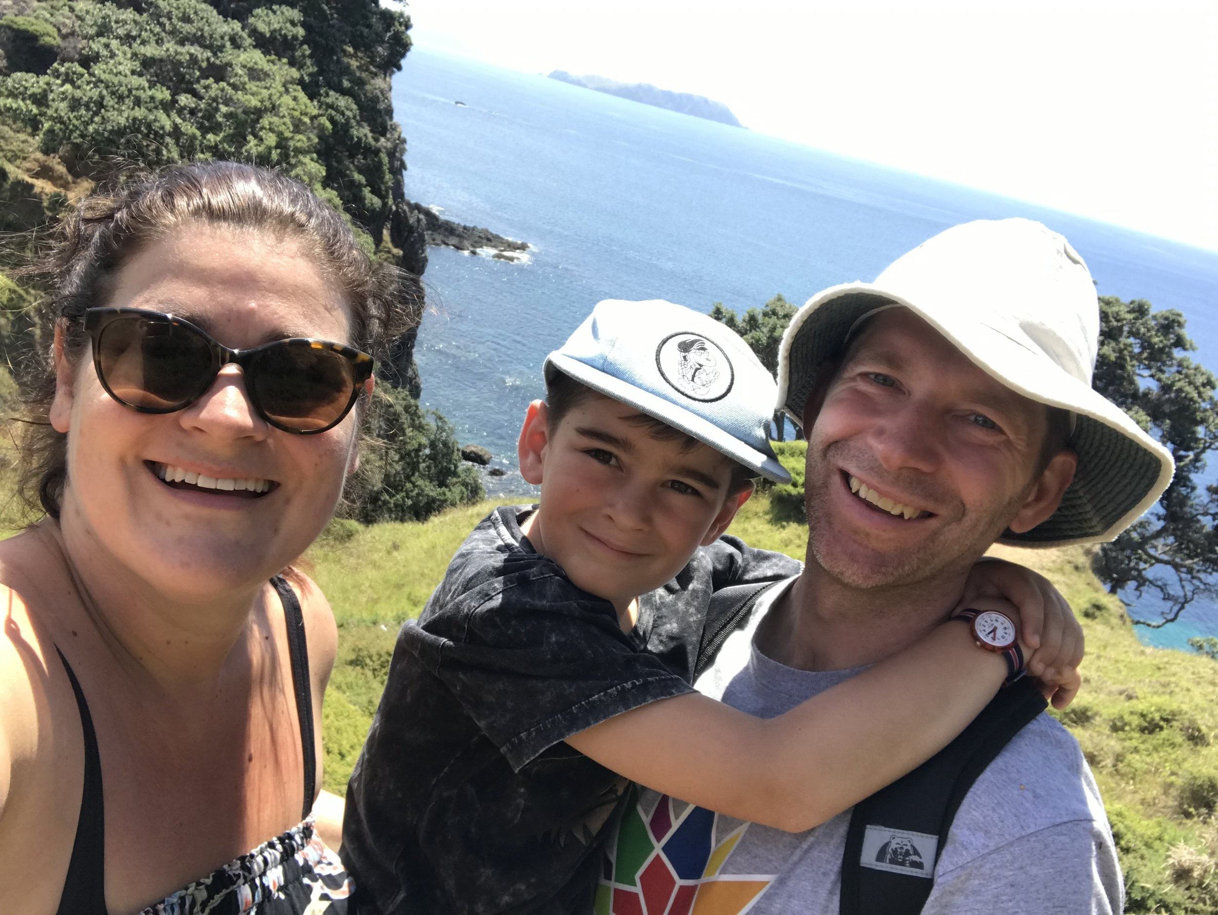 Our 6km headland hike in Northland this summer
