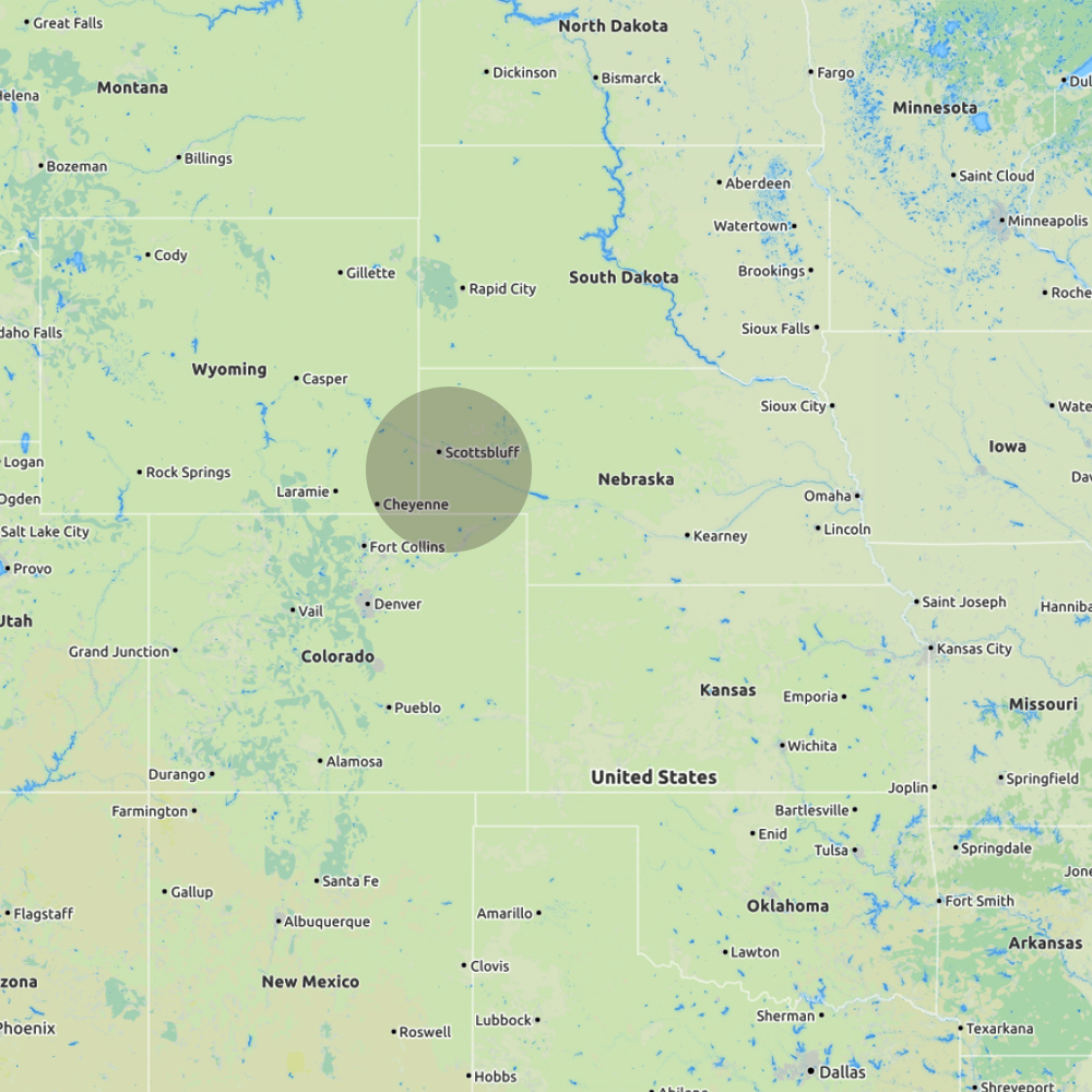 7 May - Nebraska - Team 1 - Start: Fort Collins, COEnd: Scottsbluff, NEIntercept: Harrisburg, NEDistance covered: 361 miles (581 km)