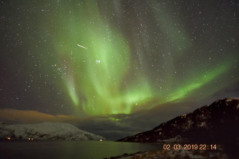 Tromsø | Noorwegen - 2 maart 2019 - including falling star