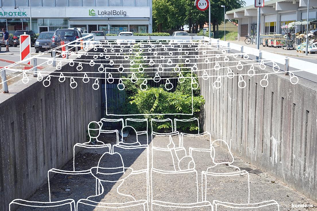 Vi omformer den gamle parkeringsrampe til et kulturelt rum, der byder på alt fra biograf, kunst og sport.