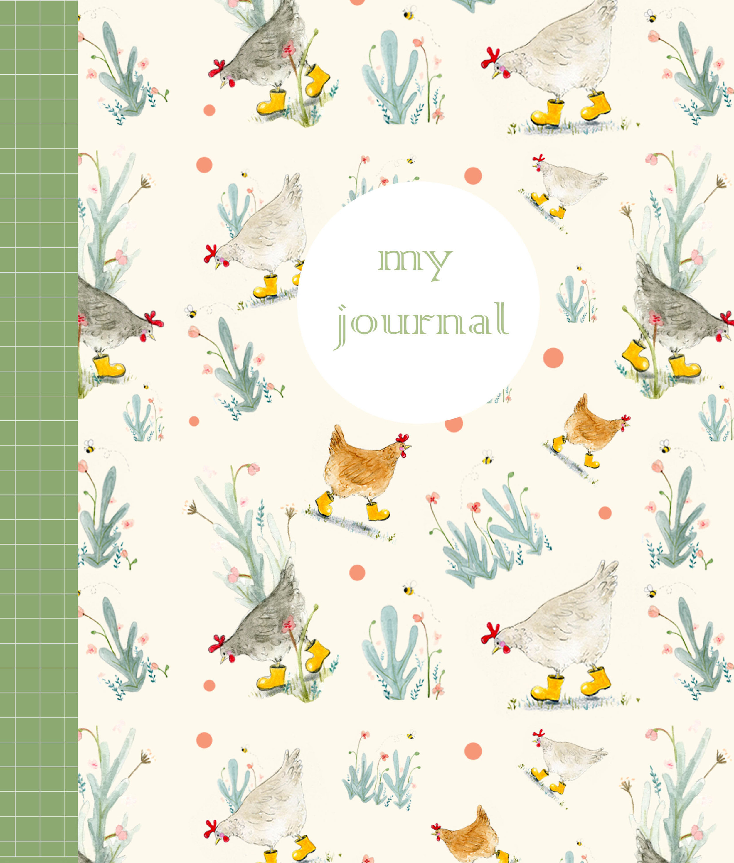 "Journal Cover Design Competition - These are a series of Journal covers that I designed for a competition run by Lilla Rogers from ""Make art that sells"". The design brief was to create a journal cover for gardener, using specific colours and design elements. This was a whole lot of fun to do!"