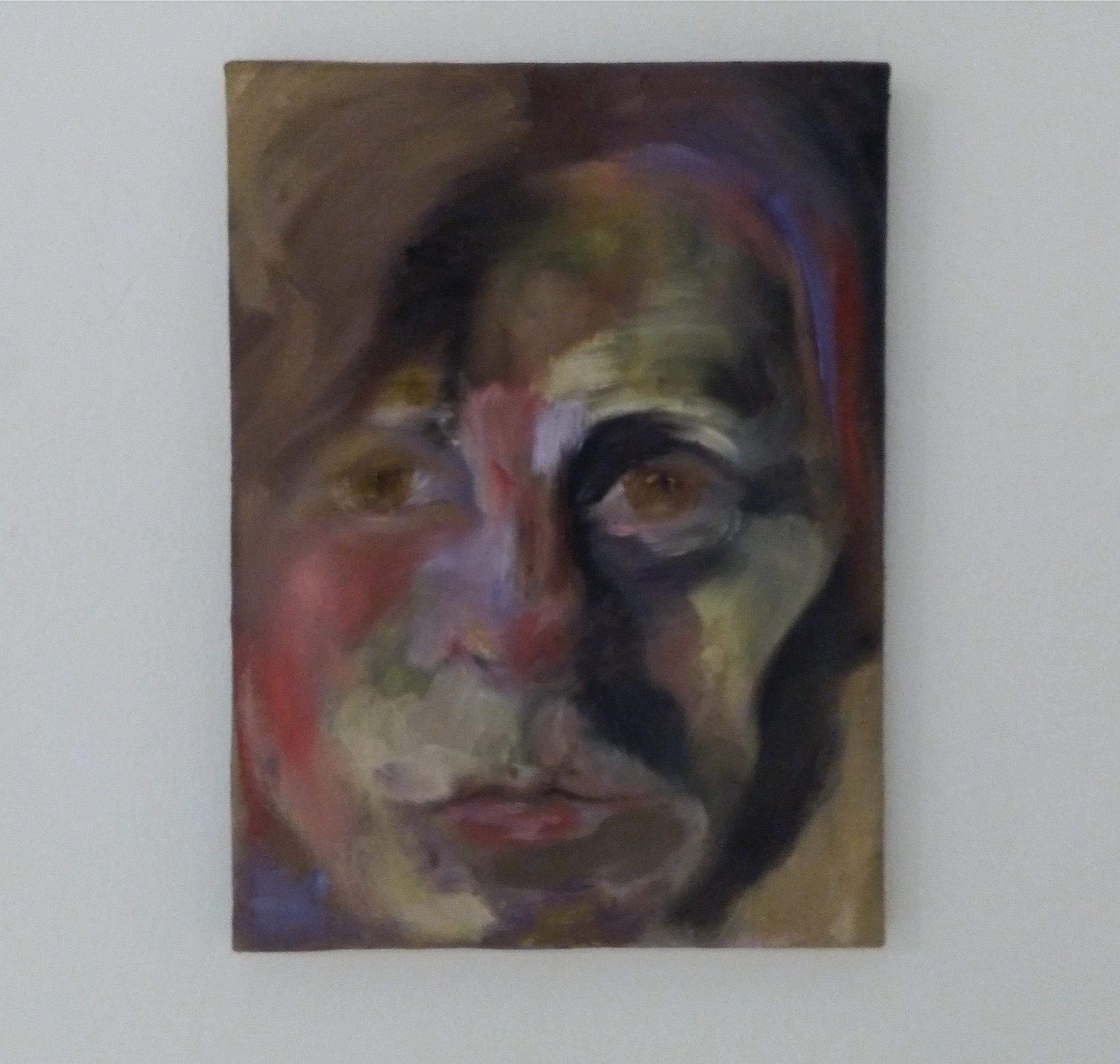 self portrait 2. 33,5x30,5cm