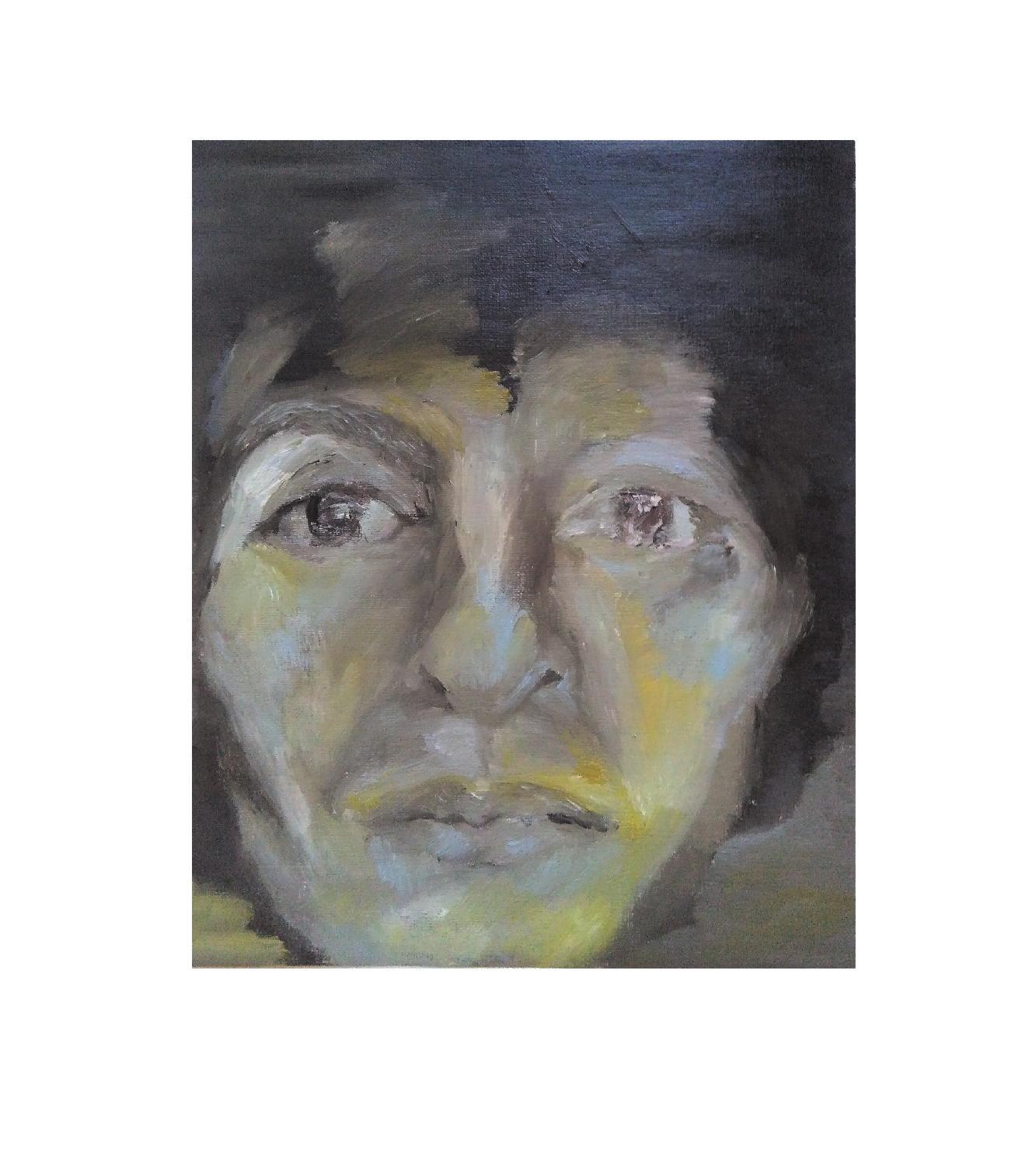 Christina. oil on paper. 28 x 24cm