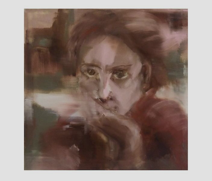 self portrait 3. 55x55cm