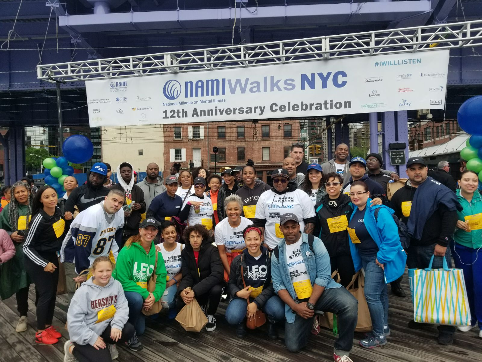 NAMI Walks - The LEO Hearted team showing support and raising awareness for NAMI and mental Illnesswww.nami.org