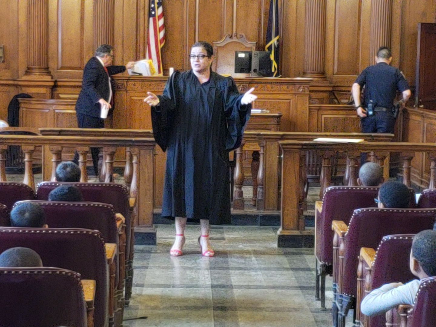 Court Visit - Judge Llinet Rosado of the Bronx County Supreme Court - Civil Term hosted 90 first graders from the Boys Prep Bronx Elementary School.