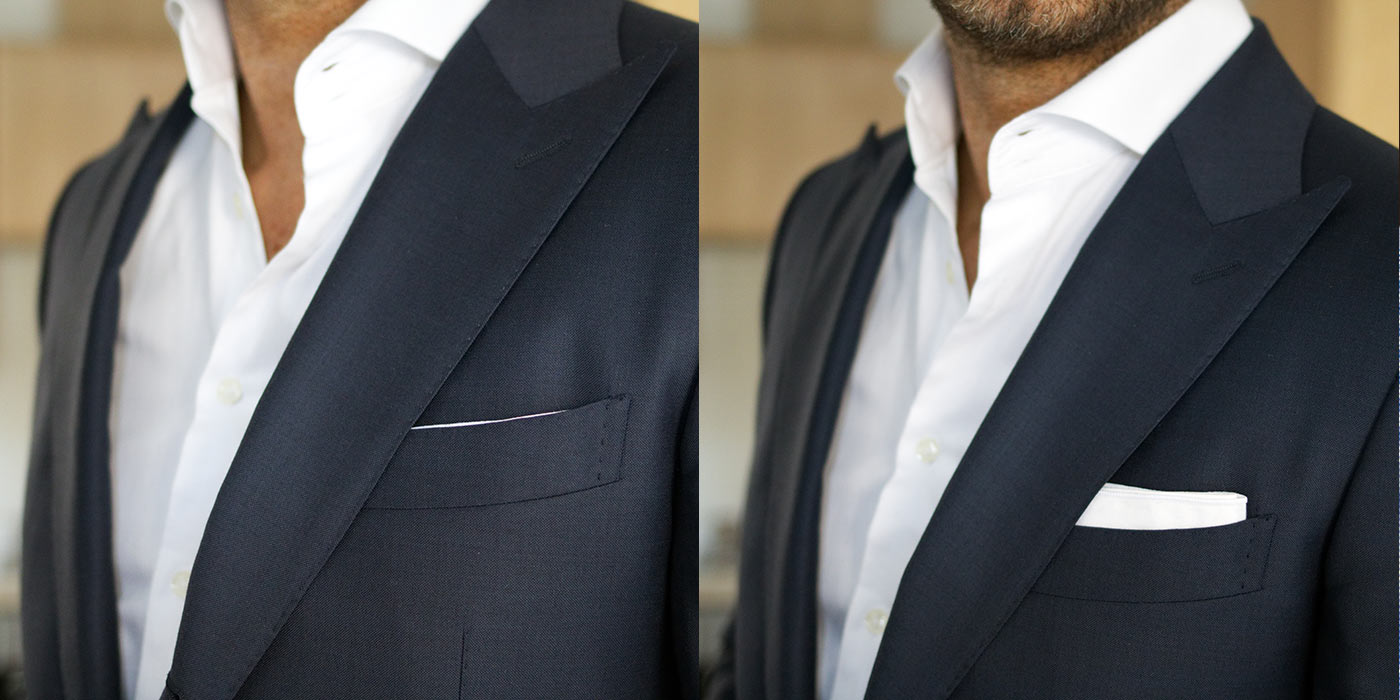 Slipping pocket squares -