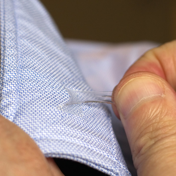 5. Before laundering – separate fabric and remove SAVVYSTAY -