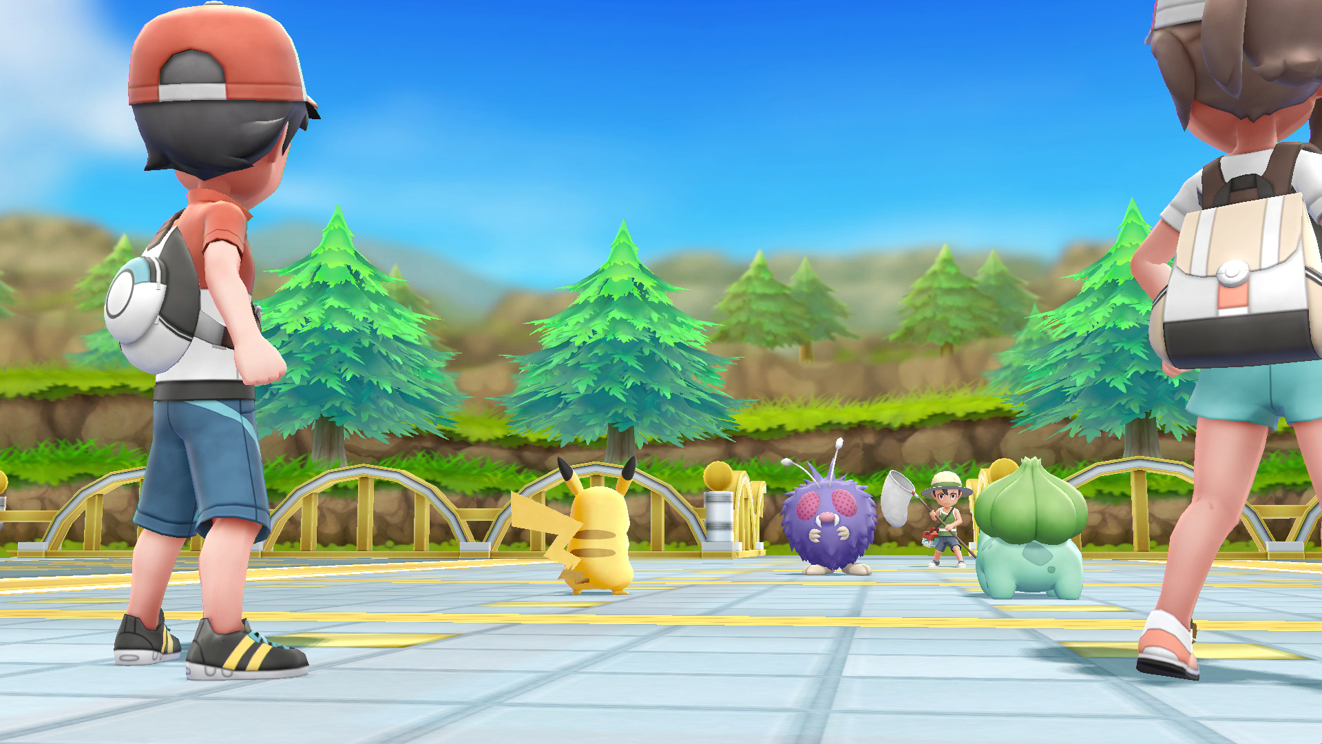 Better Graphics... FINALLY! -    On September 12, 1998,a little game called 'ポケットモンスターピカチュウ' hit the Japanese market. Before you run to paste that phrase into google translate, it means 'Pocket Monsters Pikachu', which was some what of a sequel released on the Nintendo Gameboy after the success of Pokemon Red and Blue (Red and Green in Japan). On October 19, 1999 it was brought to North America and was know as 'Pokemon Yellow'. Very fitting, the game featured a gifted little electric mouse known as Pikachu as your starter, much like the main character 'Ash' from the Pokémon anime series.   Now, nearly 20 years later, we are getting a reimagined version of the game for Nintendo Switch. We hope the wait will be worth it! From the 4 color, pea-green Gameboy screen, to the 720p Nintendo Switch handheld screen will be the upgrade we have been wanting for years. Making the move from sprites to 3D rendered graphics seems like a move that should have been made years ago, but now that it's here, the Switch is the perfect device for the task at hand.