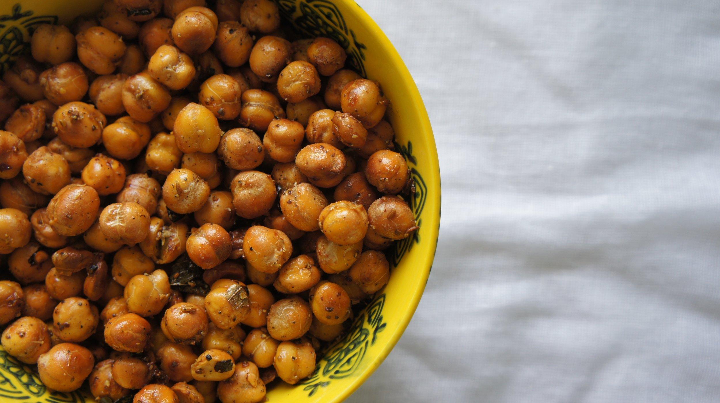 Spicy Masala Crunchy Chickpeas -