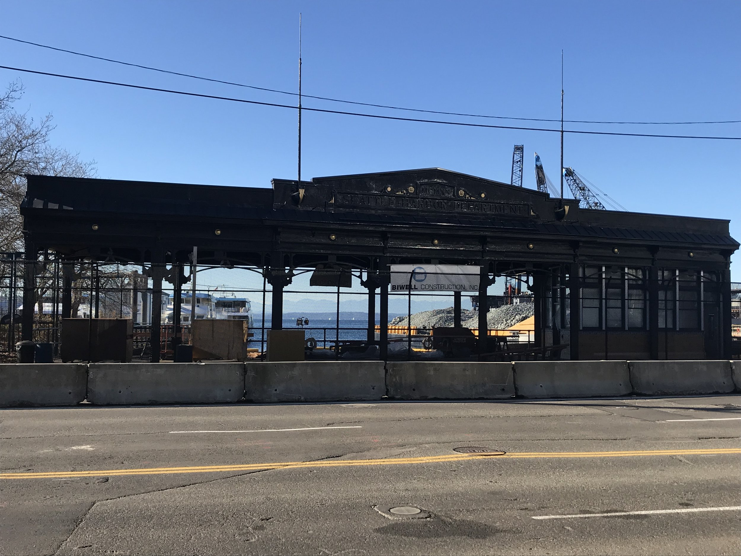 Restoration of the Washington Street Public Boat Landing pergola, which was built in the same style as the iron pergolas of Pioneer Square.