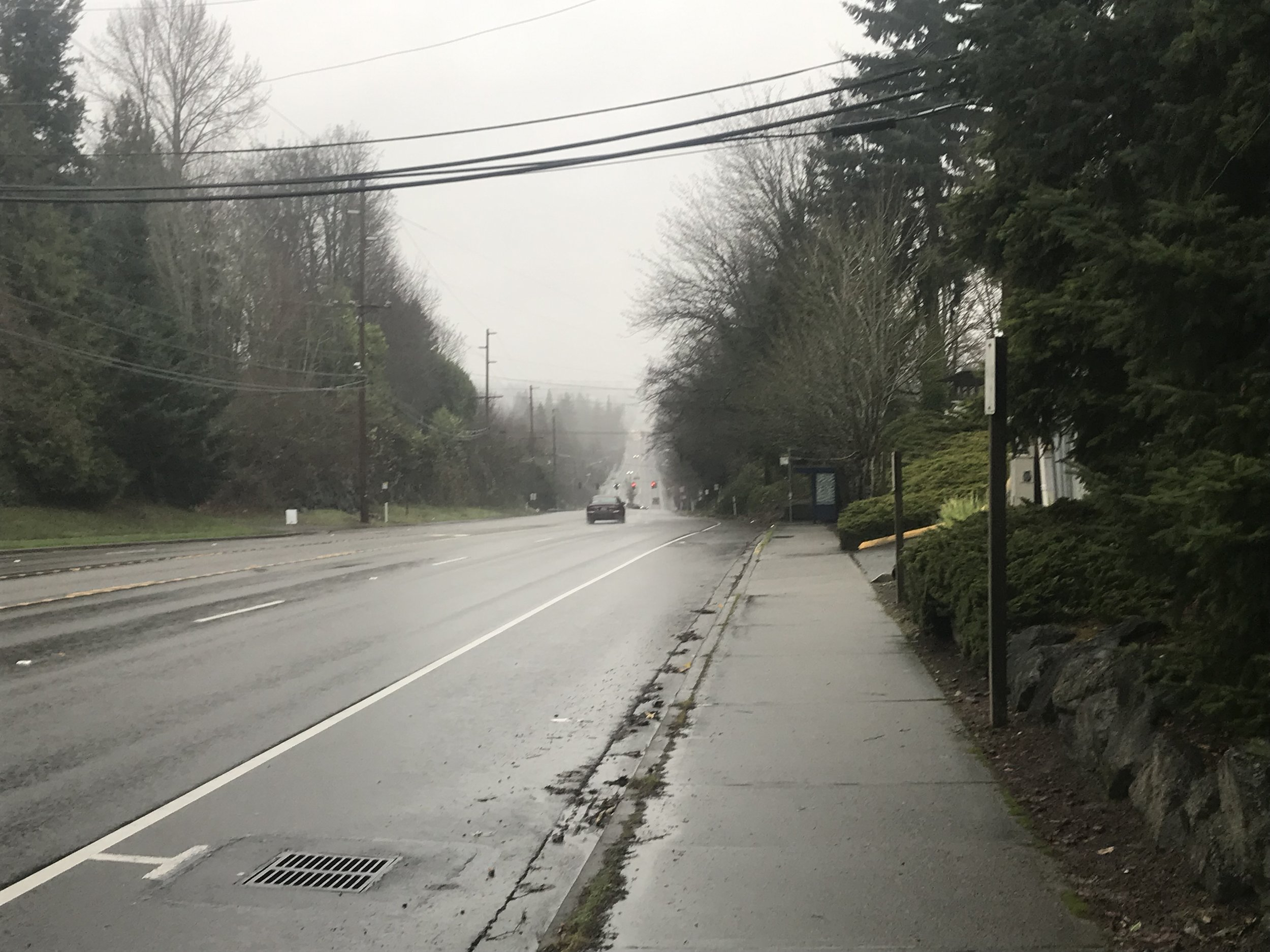 Heading north on 1st Ave through Normandy Park towards Burien