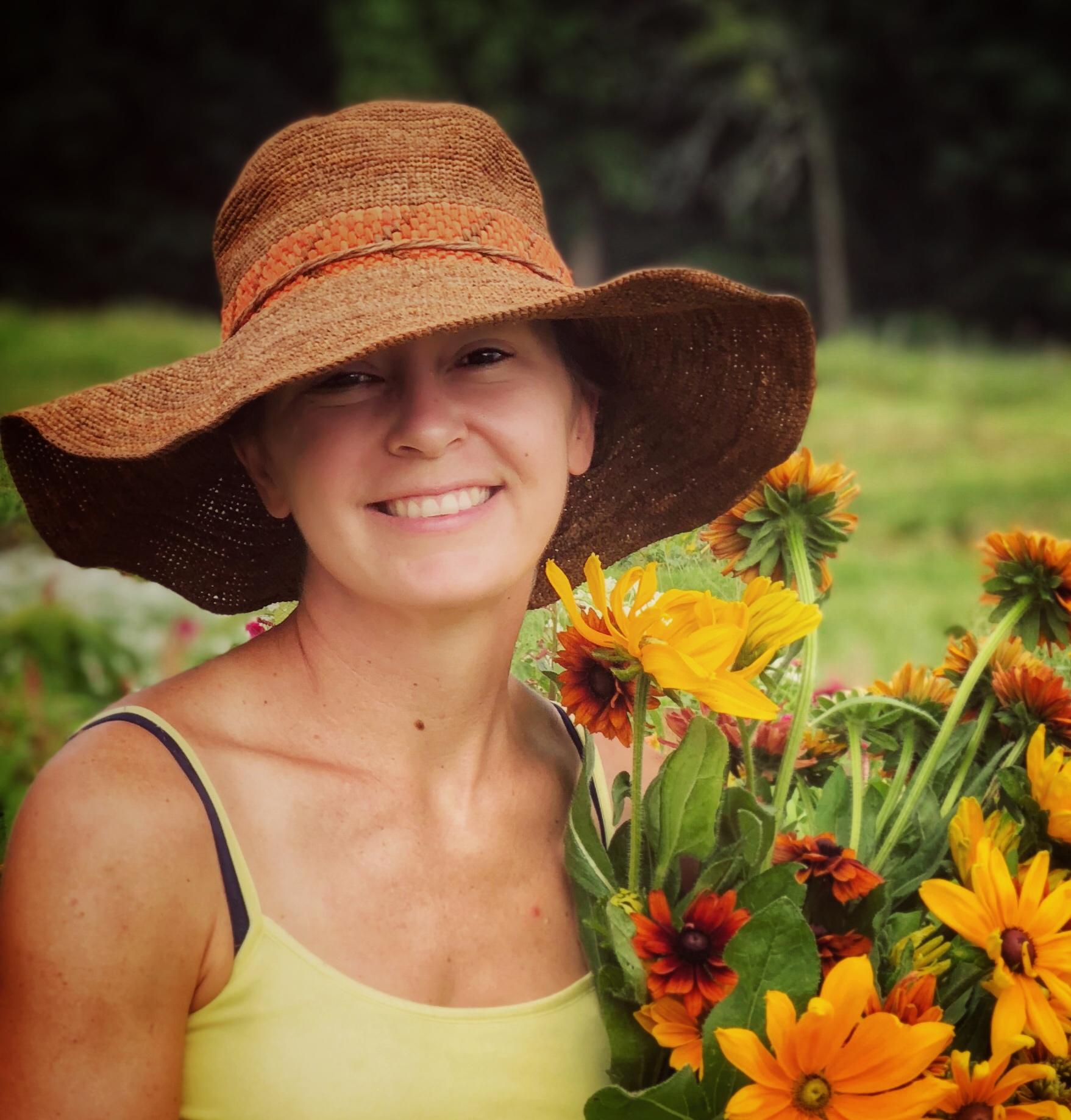 Michelle Kenstler Periwinkle Flower Farm Emmaus PA organic specialty cut flowers rudbeckia