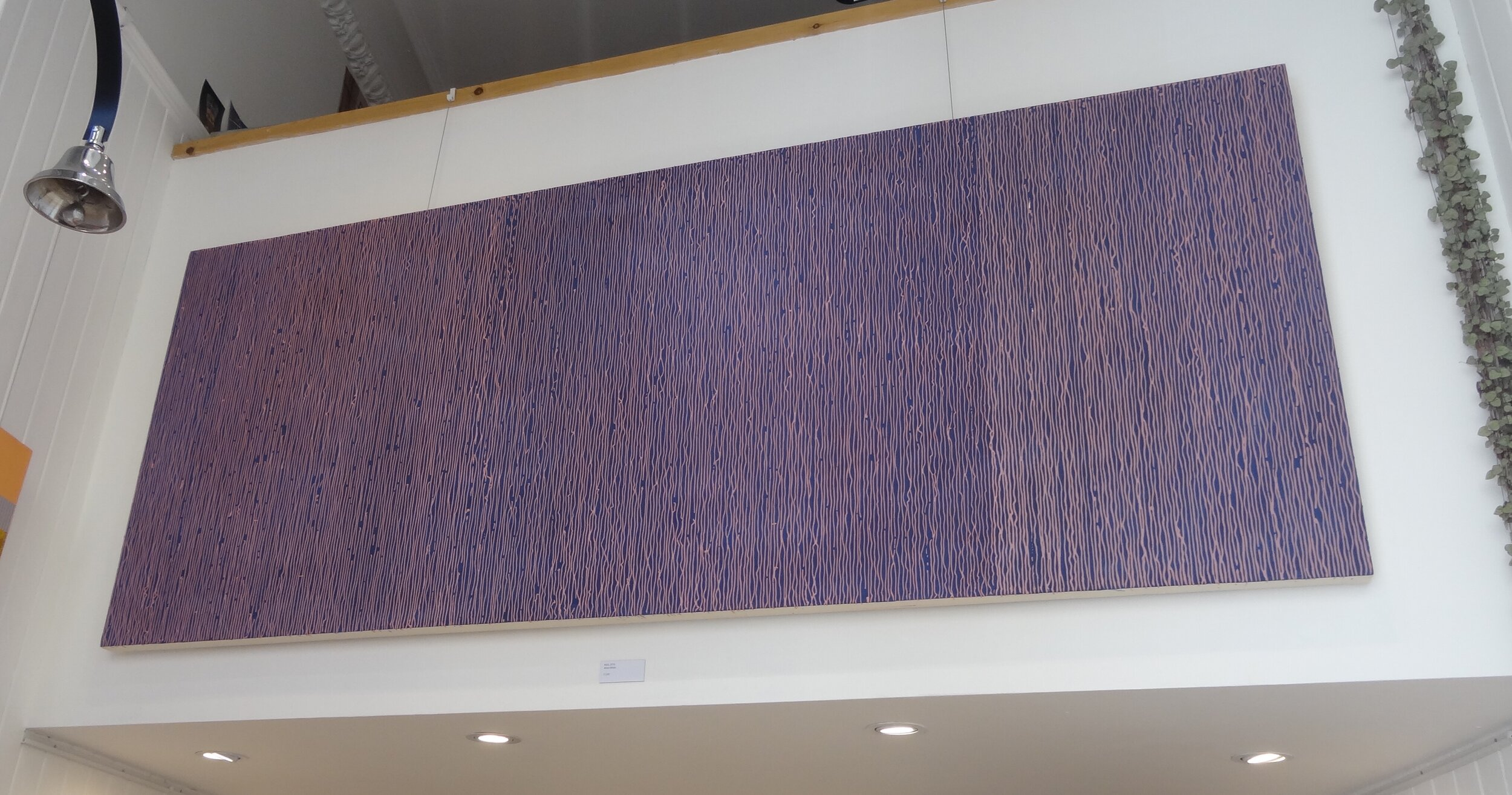 4003 (installation at Upright Gallery, Edinburgh). Mixed media, 200 x 80cm