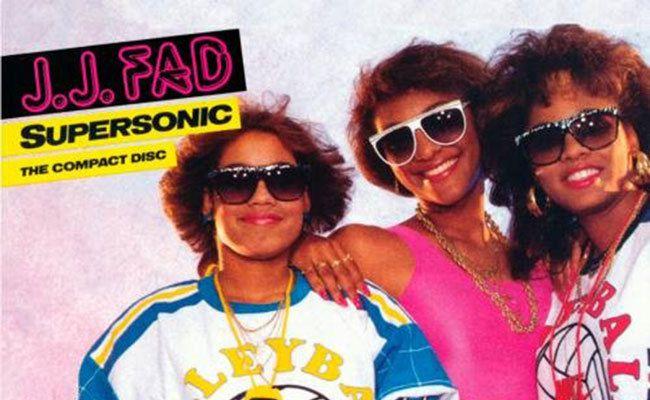 J.J. Fad, 'Supersonic' cover art, 1988.