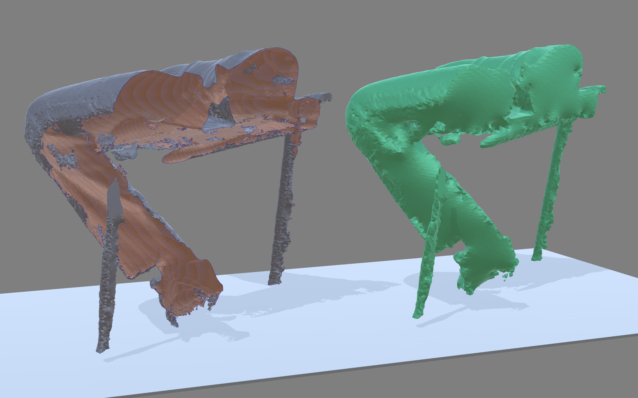 Left: 3D Scan with nightmare-inducing garbage boundaries. Right: Auto-Solidify result. Click to enlarge.