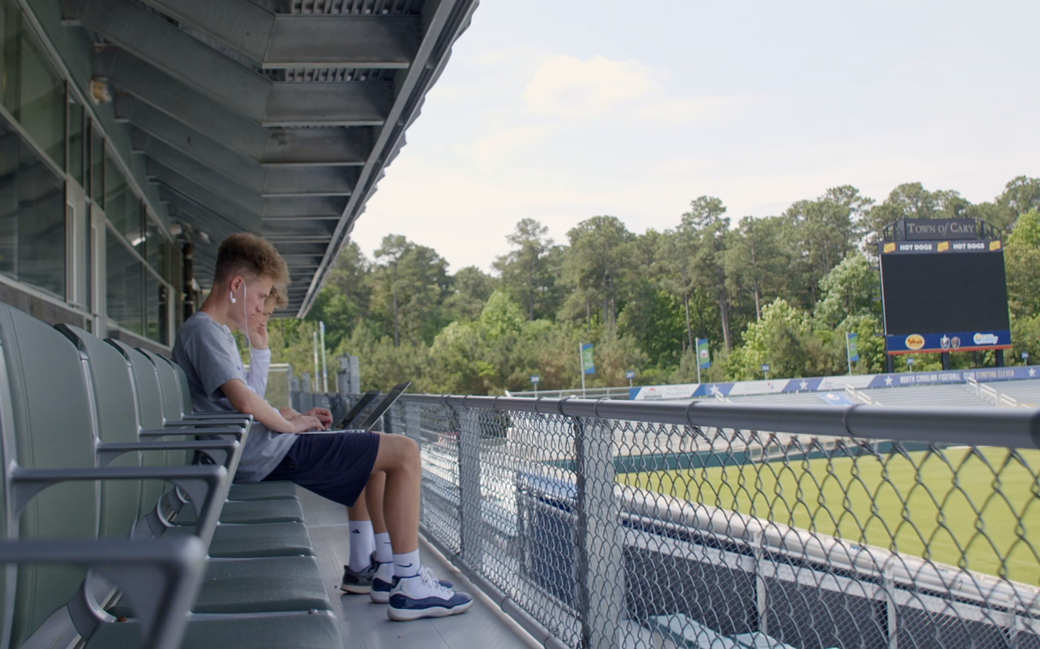 Learning outside at WakeMed Soccer Park, Cary, North Carolina
