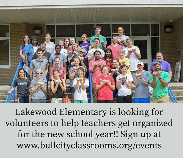 We're hosting another event at Lakewood Elementary (minutes away from Duke) ‪this Saturday, August 17, from 10AM-12PM‬ to help them get ready for the upcoming school year! We'll be helping a bunch of different teachers set up their classrooms! This involves putting up posters and bulletin boards, moving furniture around, organizing classrooms, and more.  If you're around, we'd love to see you there! Sign up on the link in our profile.  #bullcityclassrooms #durhamnc #bullcity #durm #school #elementary #lakewoodelementary #lakewoodneighborhood #durhampublicschools #volunteer #supportlocalschools #teachers #helpingteachers