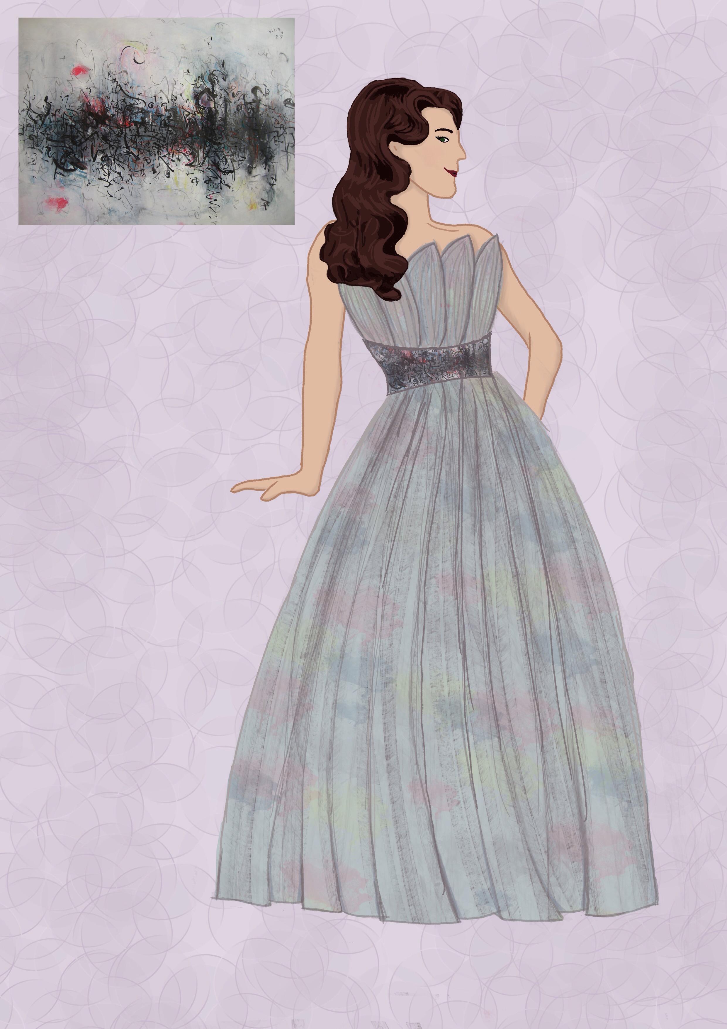 Abstract Art Evening Dress