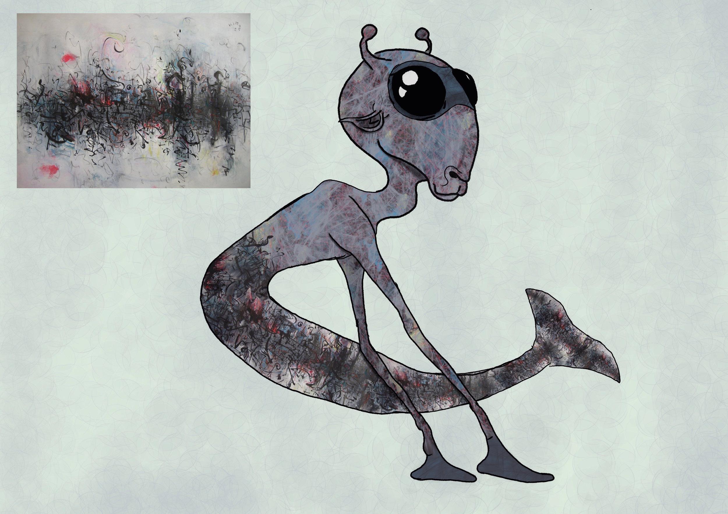 Abstract Art Alien Design