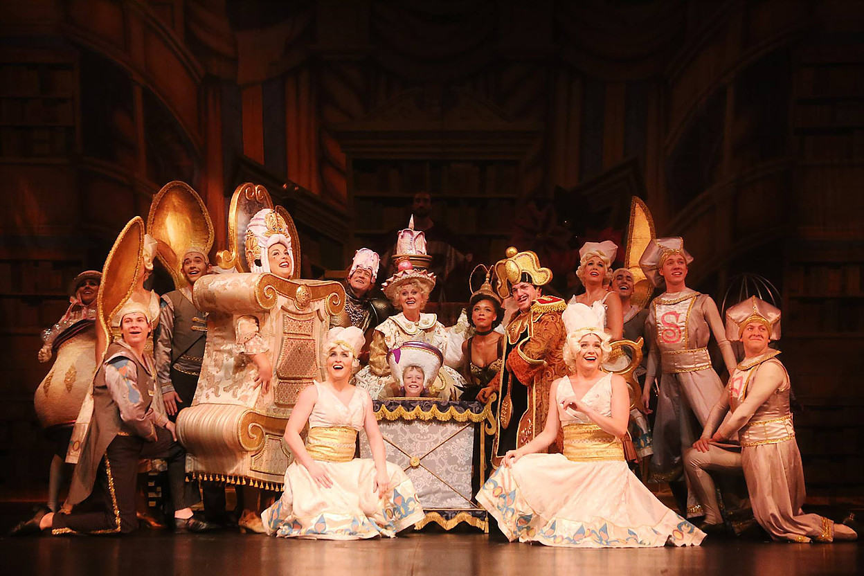 Pictured: The cast of Disney's BEAUTY AND THE BEAST.  Photo by Curtis Brown Photography.