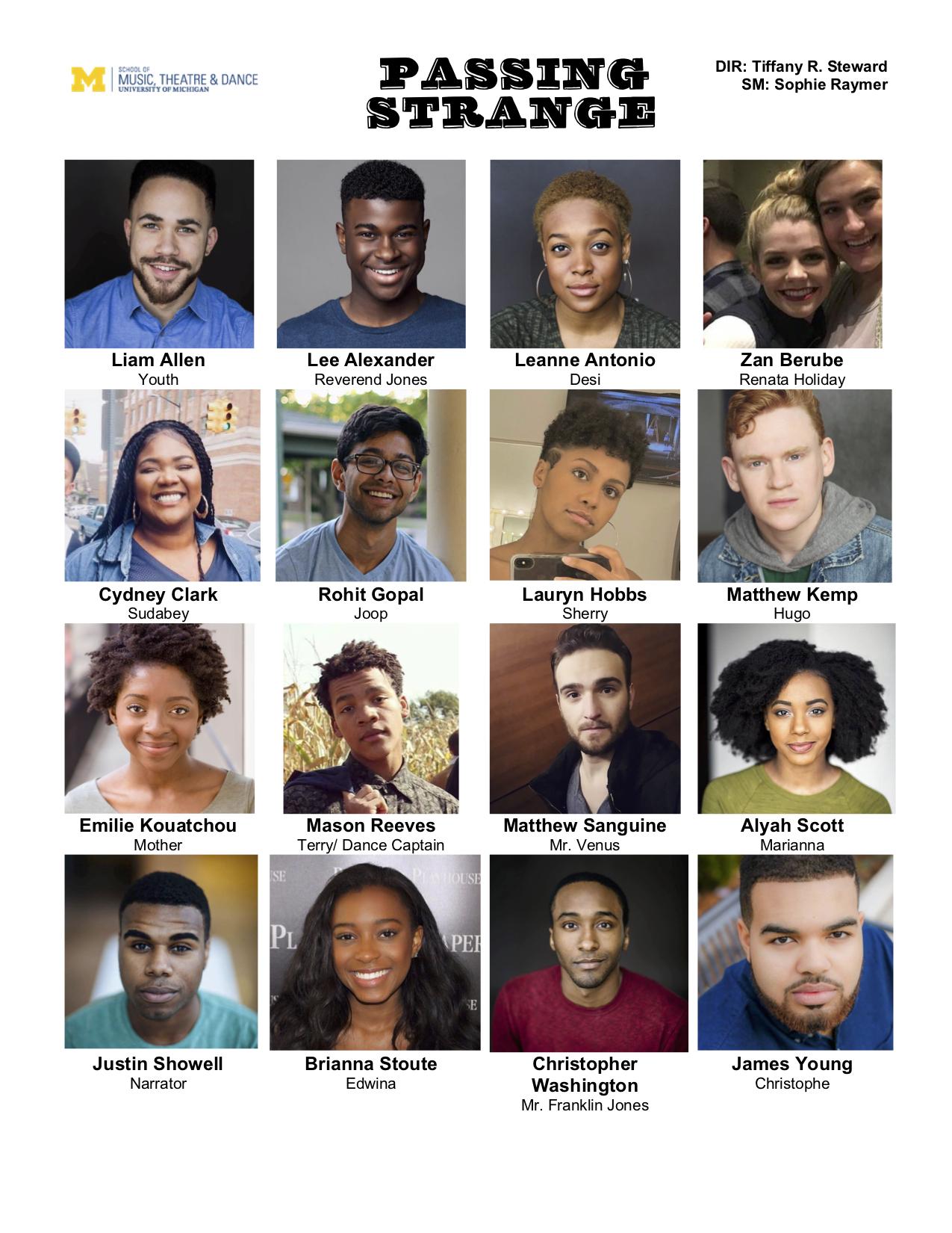 Cast Headshot Sheet