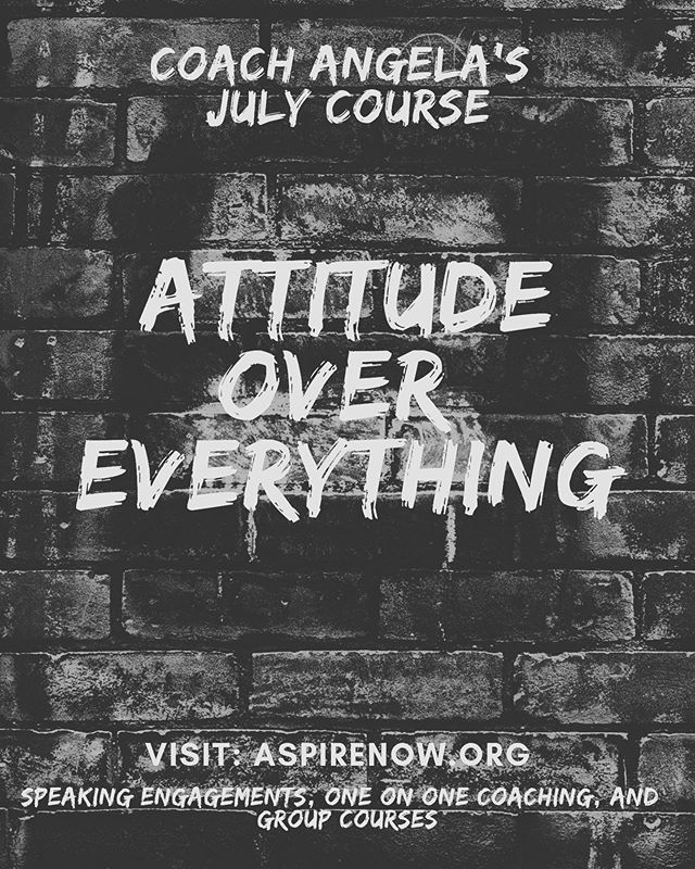 ATTITUDE OVER EVERYTHING COURSE STARTS TOMORROW!!! Still time to join. Register with link in Bio!  So excited 🤩🤩🤩