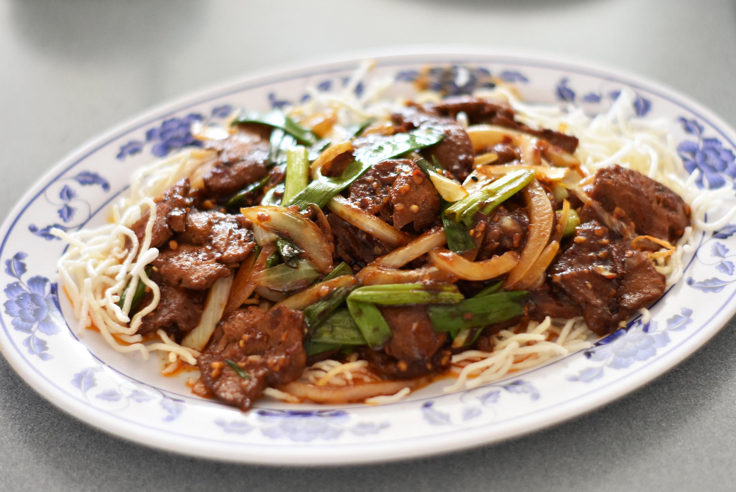 Mongolian Vegi. Beef     11.99